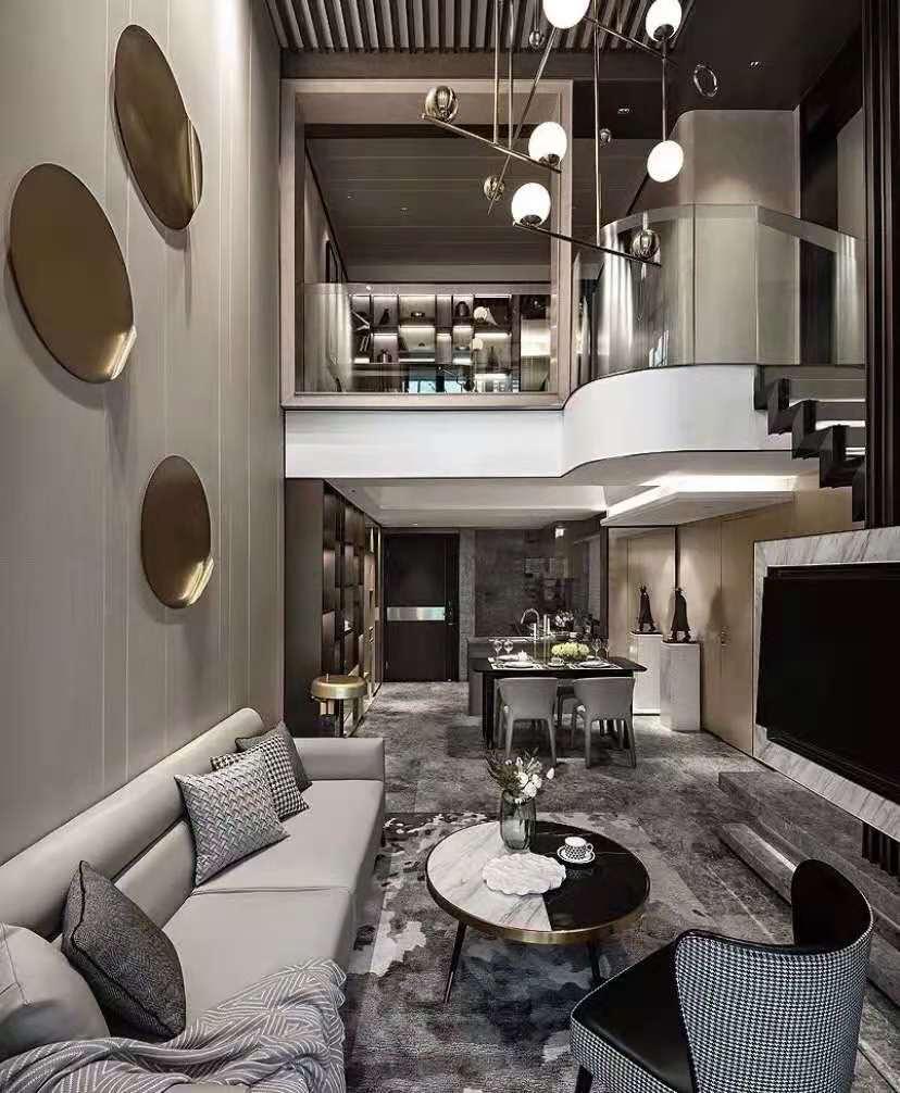 复式欧式样板间装修餐厅效果图