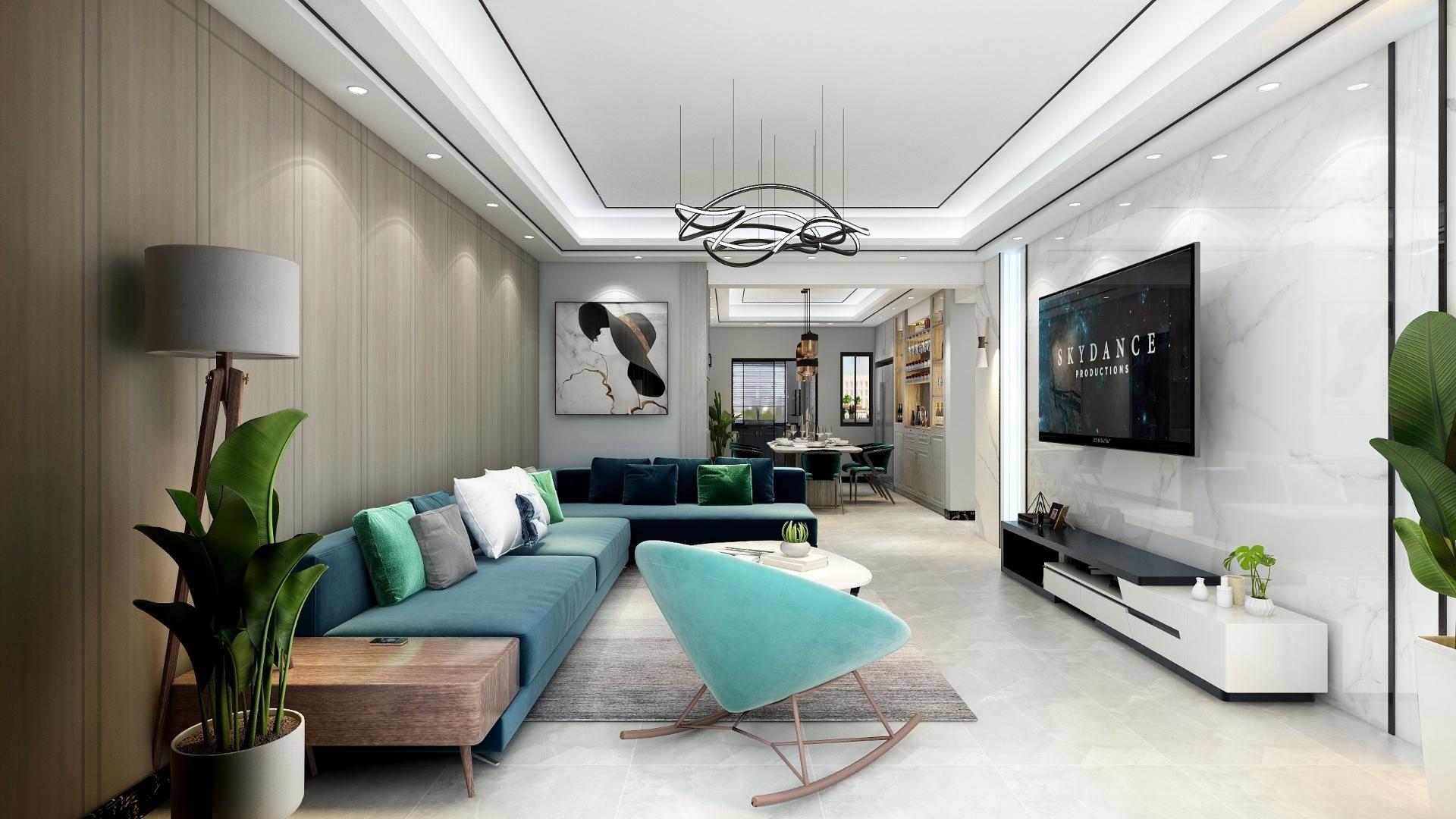 60-90两房地中海风格装修