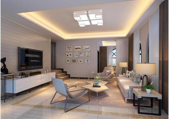 平简约风公寓客厅装修效果图